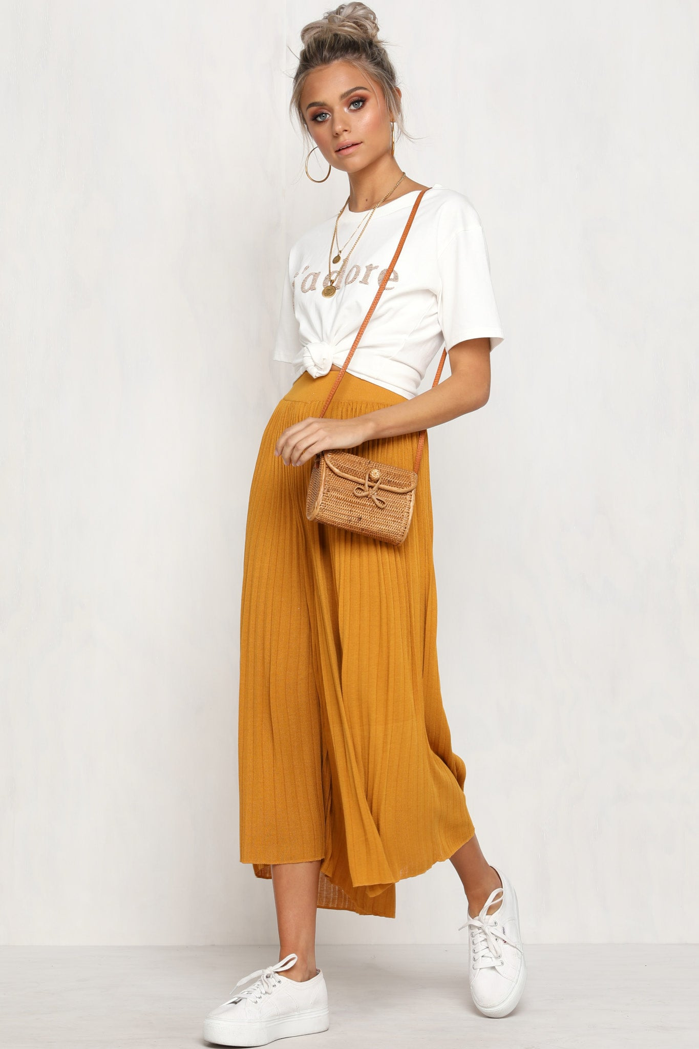 Press Play Knit Pants (Mustard)