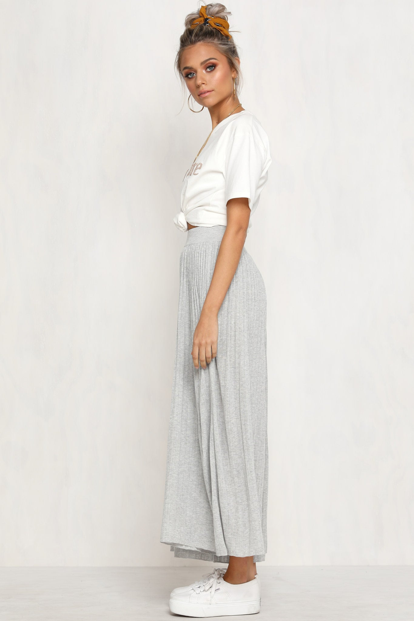 Press Play Knit Pants (Grey)