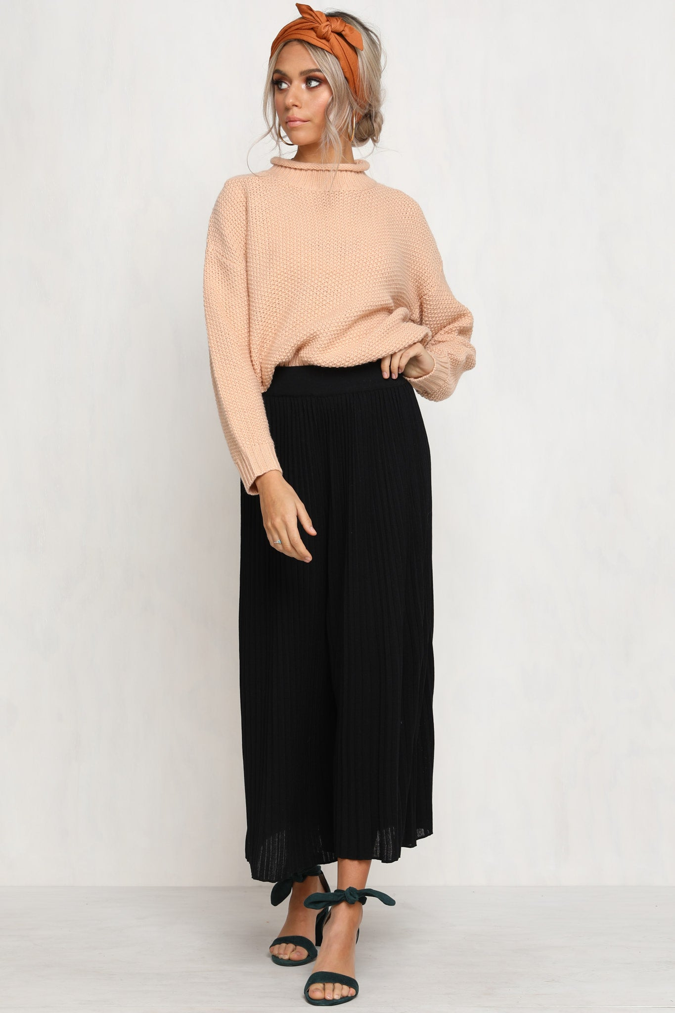 Press Play Knit Pants (Black)