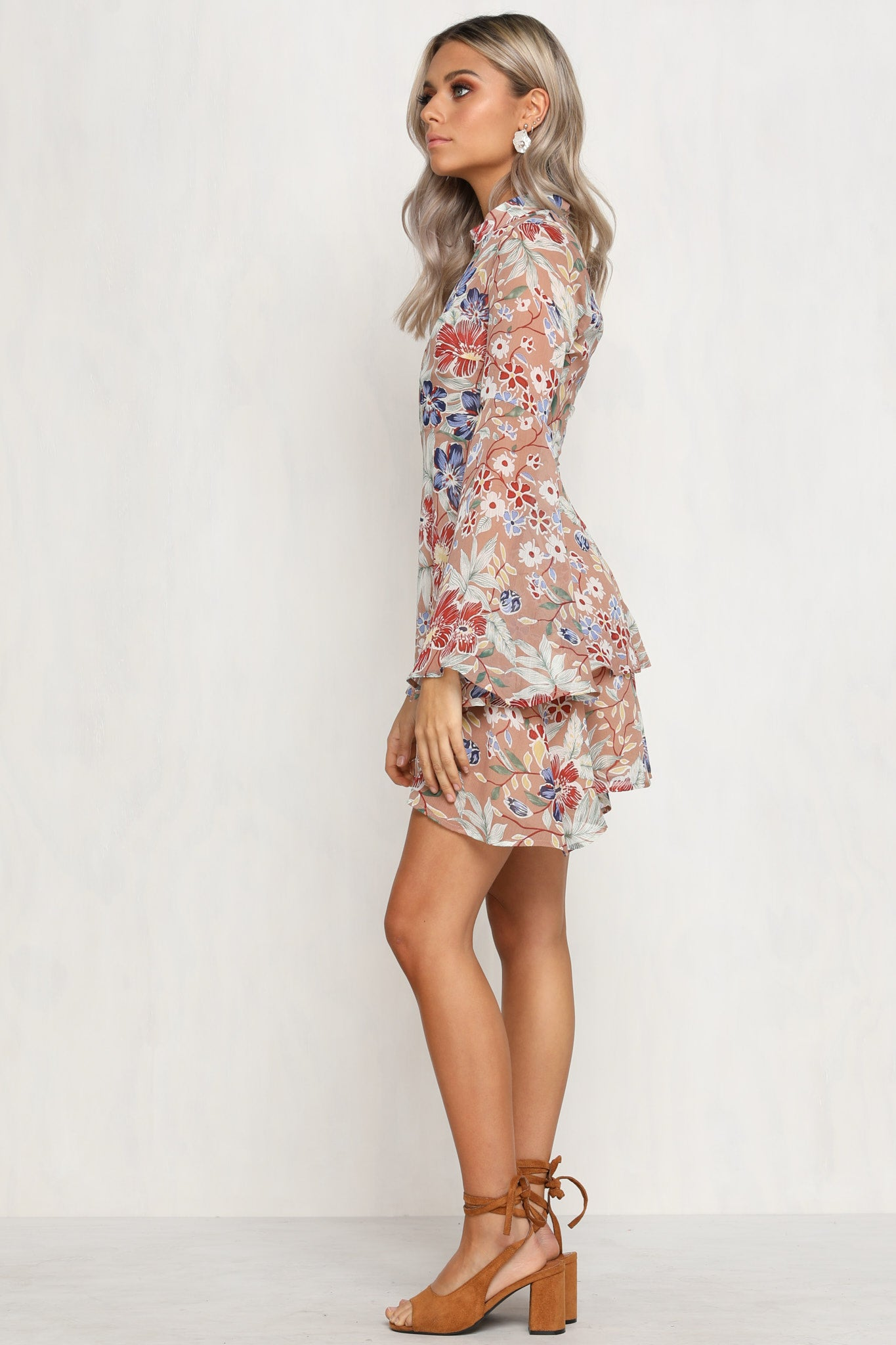 Radiate Dress (Beige)
