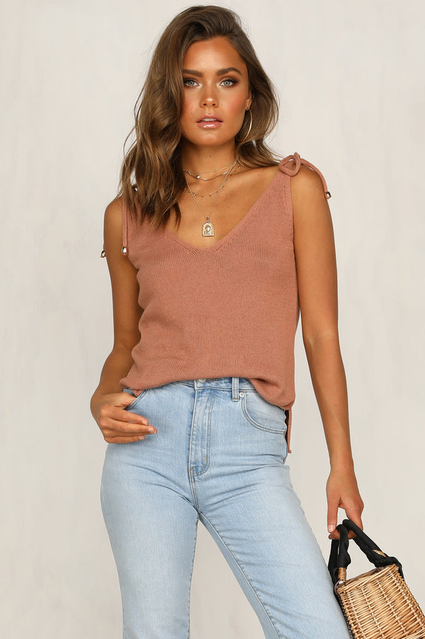Ellie Knit Cami (Bronze)