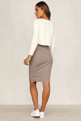Wildest Dreams Skirt (Mocha)