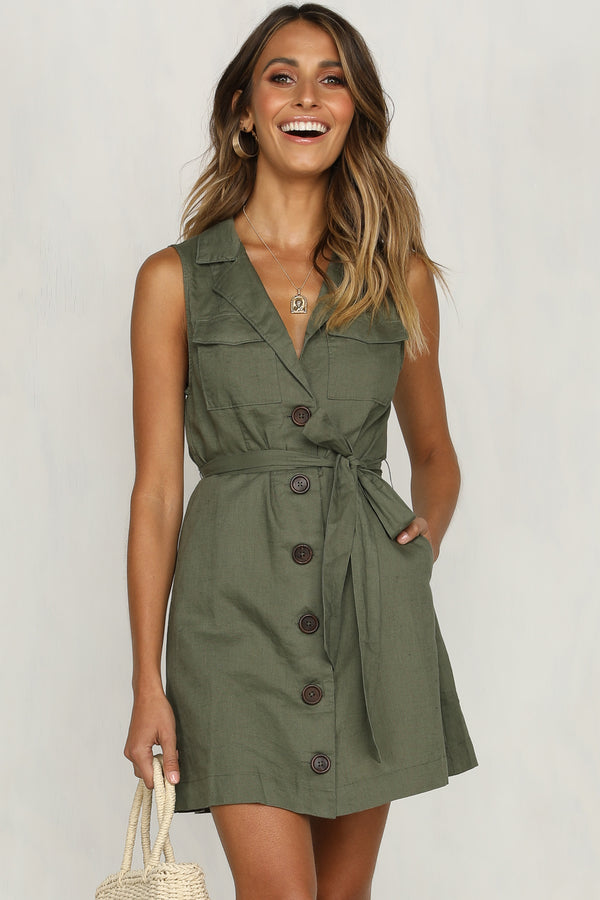 Clear Winners Dress (Khaki)
