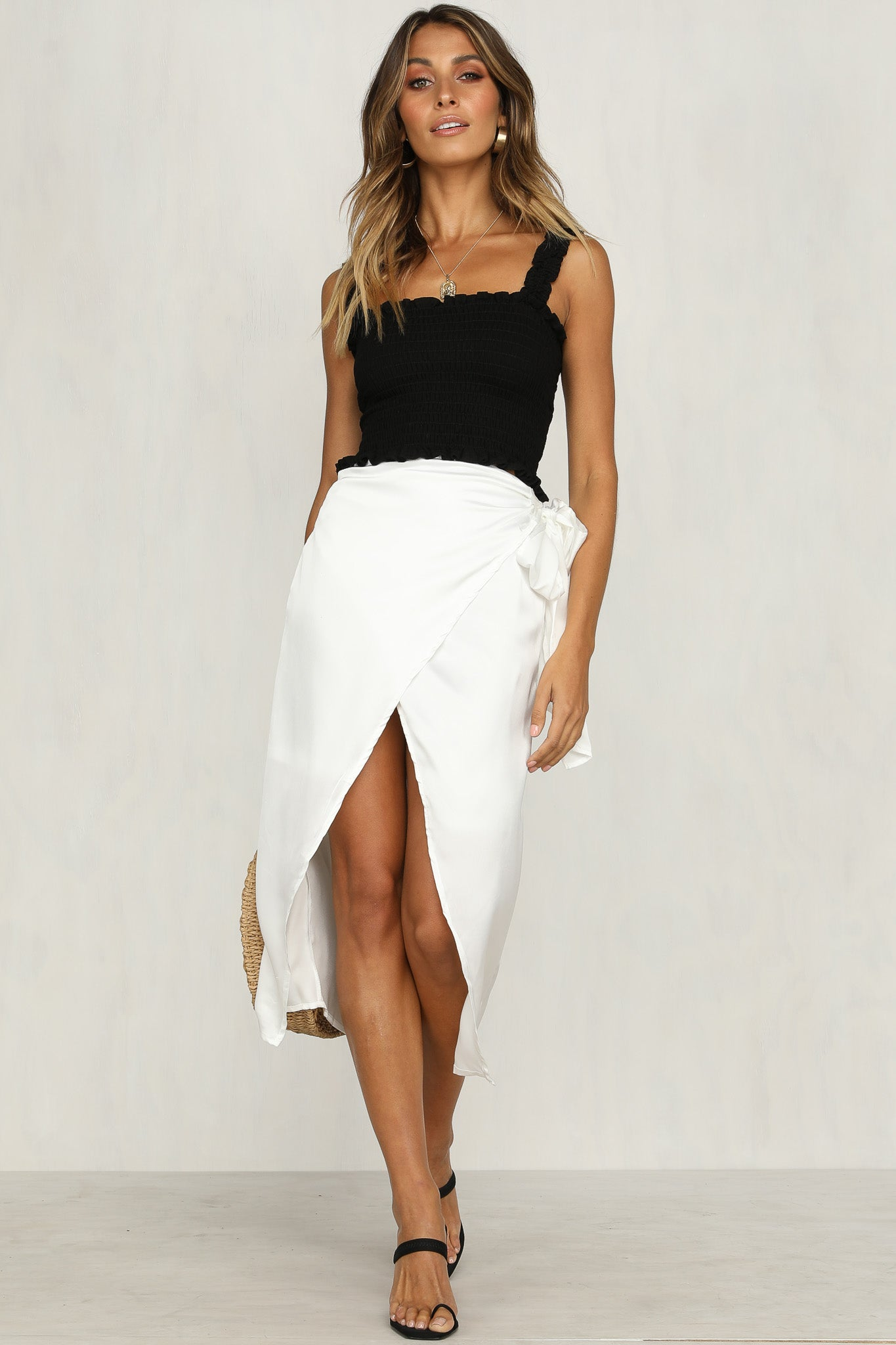 Gone In A Flash Skirt (White)