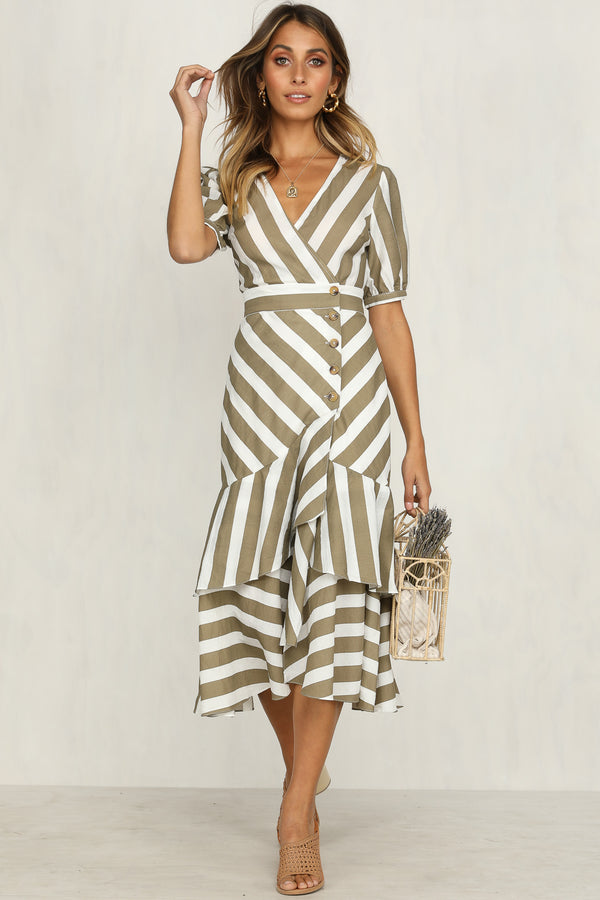 Spencer Dress (Khaki)