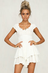 Power To Her Playsuit (White)