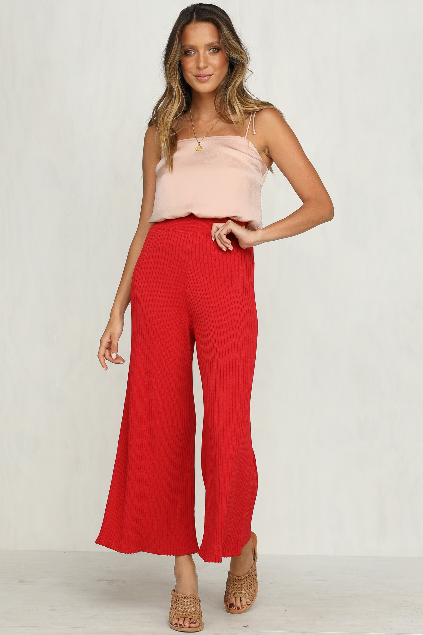Rory Knit Pants (Red)