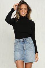 Javi Ribbed Knit Top (Black)