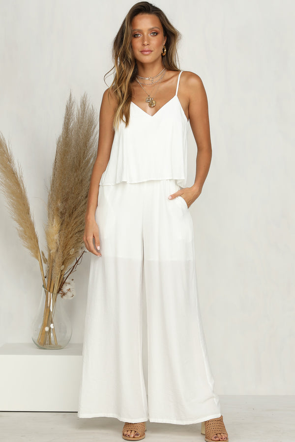Desert Sands Jumpsuit (White)