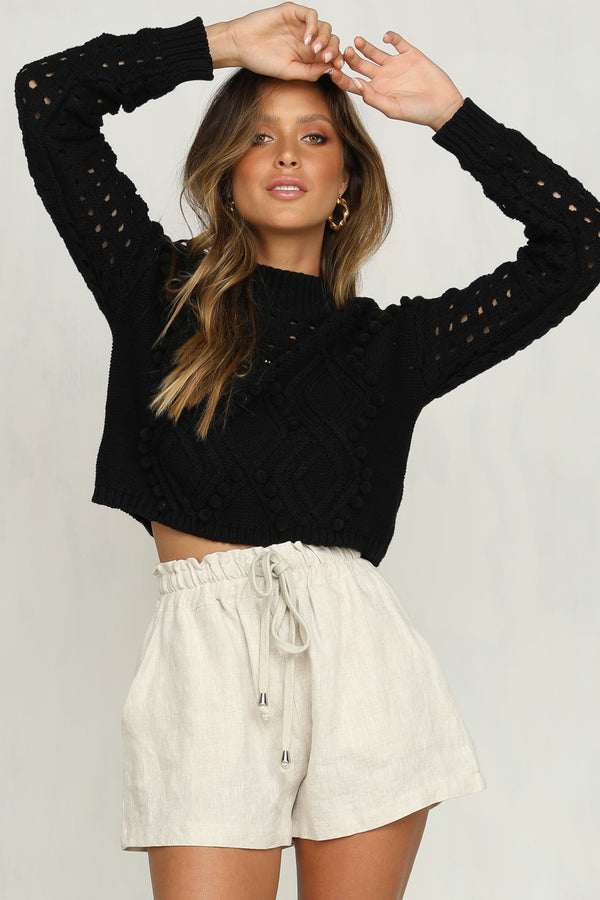 Iris Cropped Knit (Black)