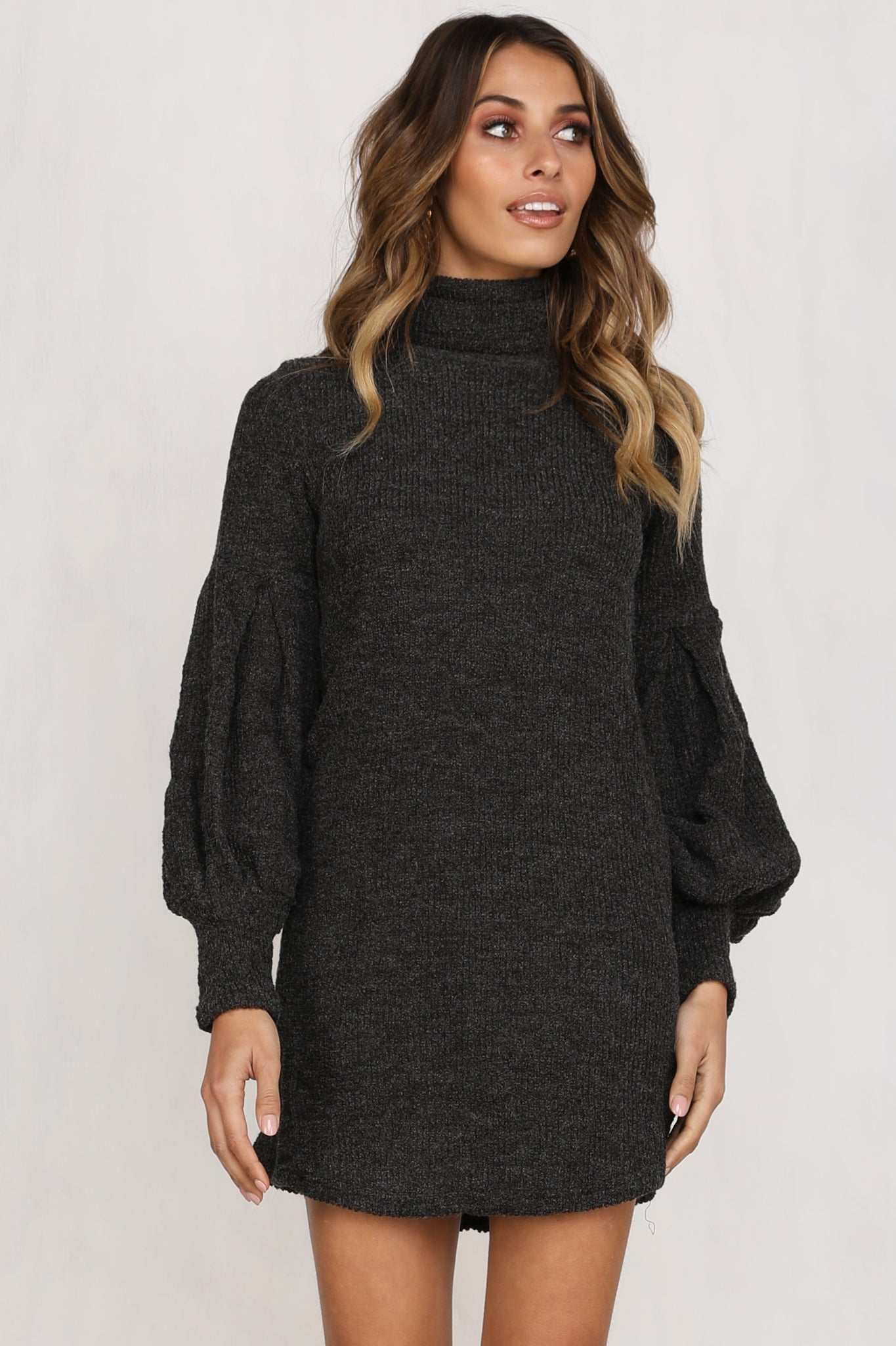 Diego Knit Dress (Grey)