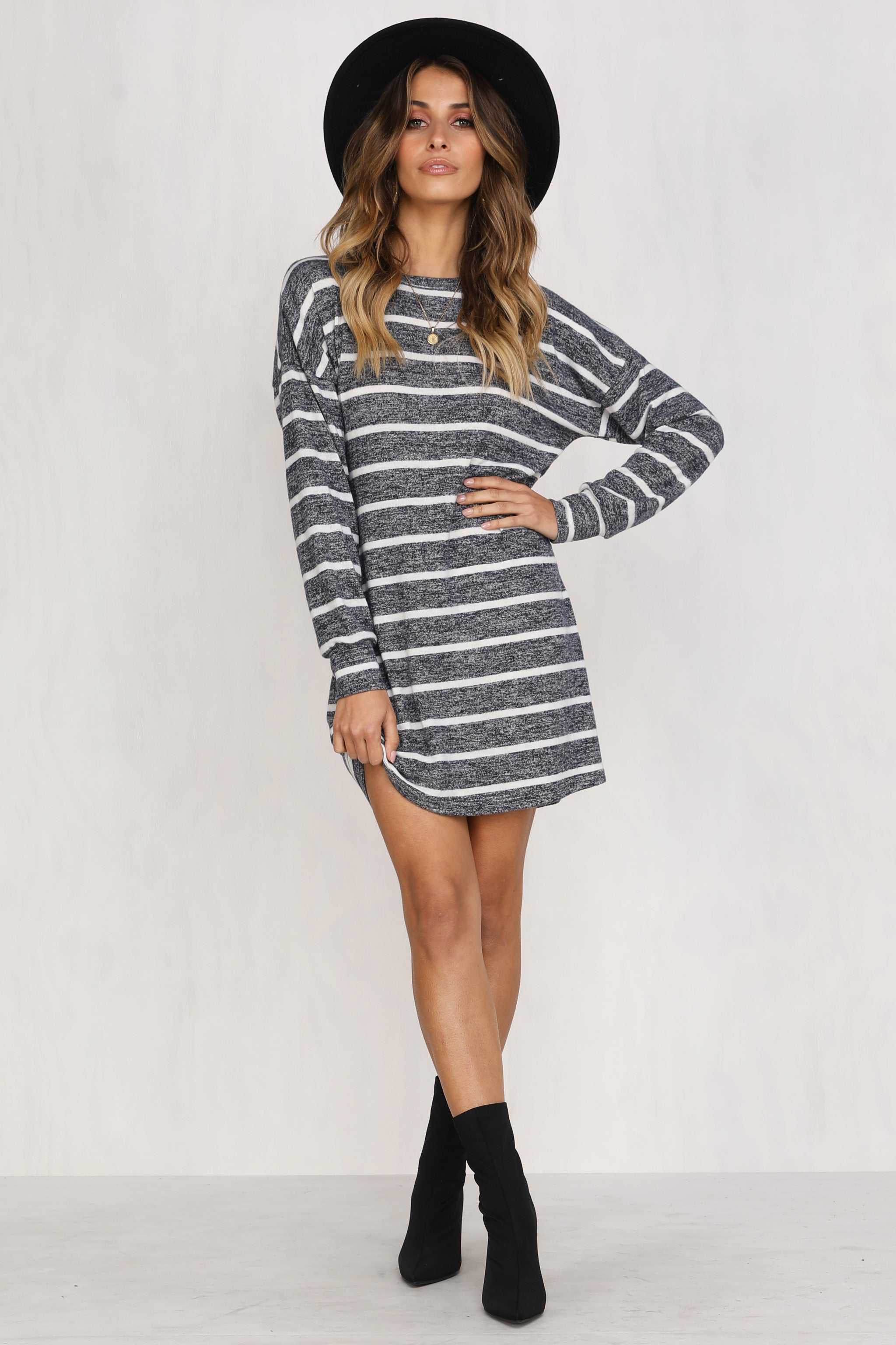 Heart's On Fire Dress (Grey)