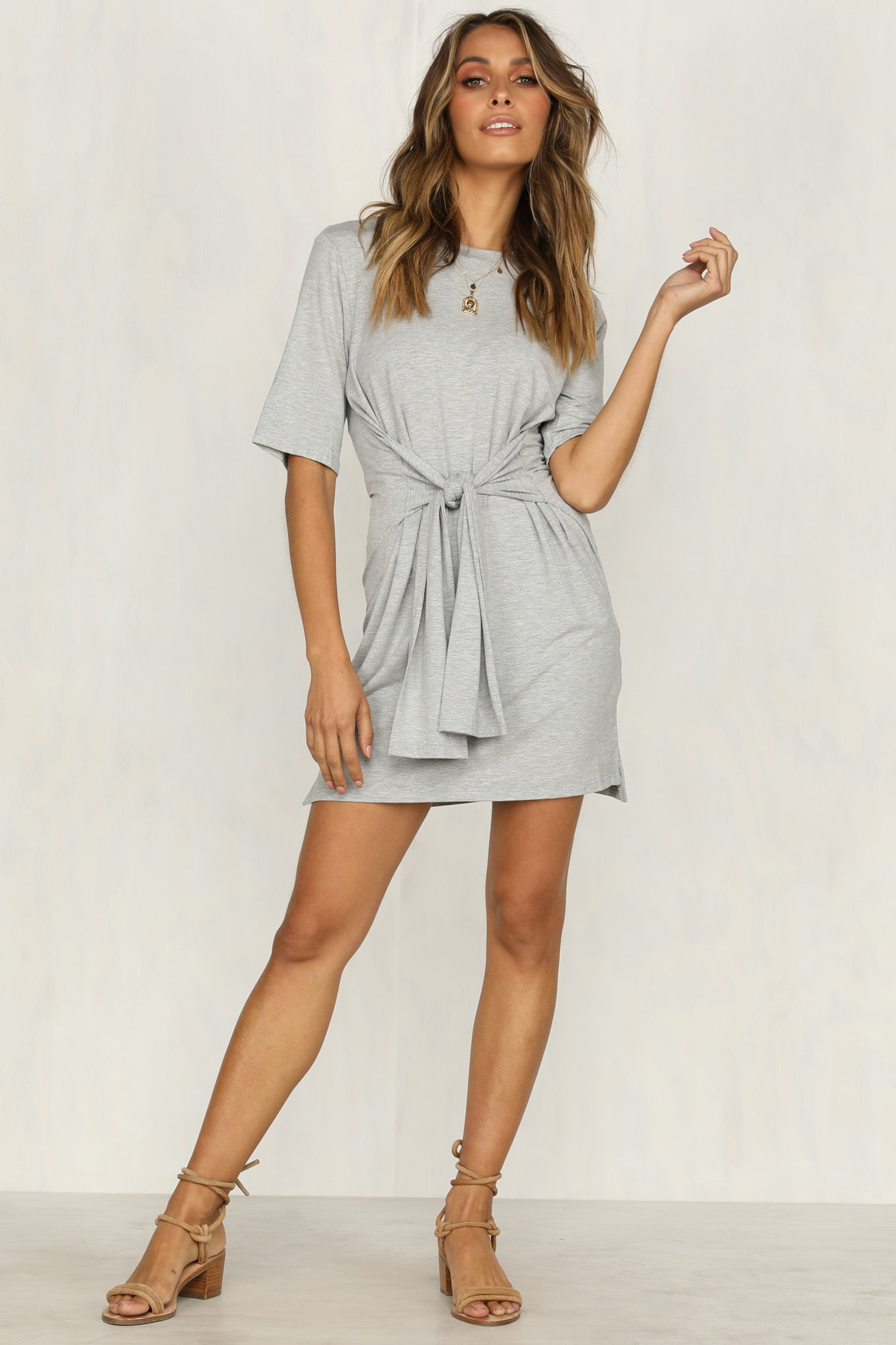 Pared Back Dress (Grey)