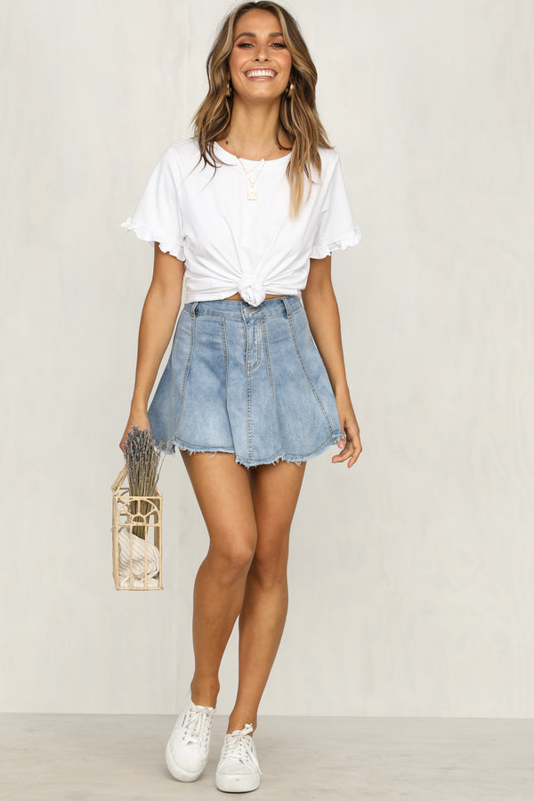 Tate Denim Skirt