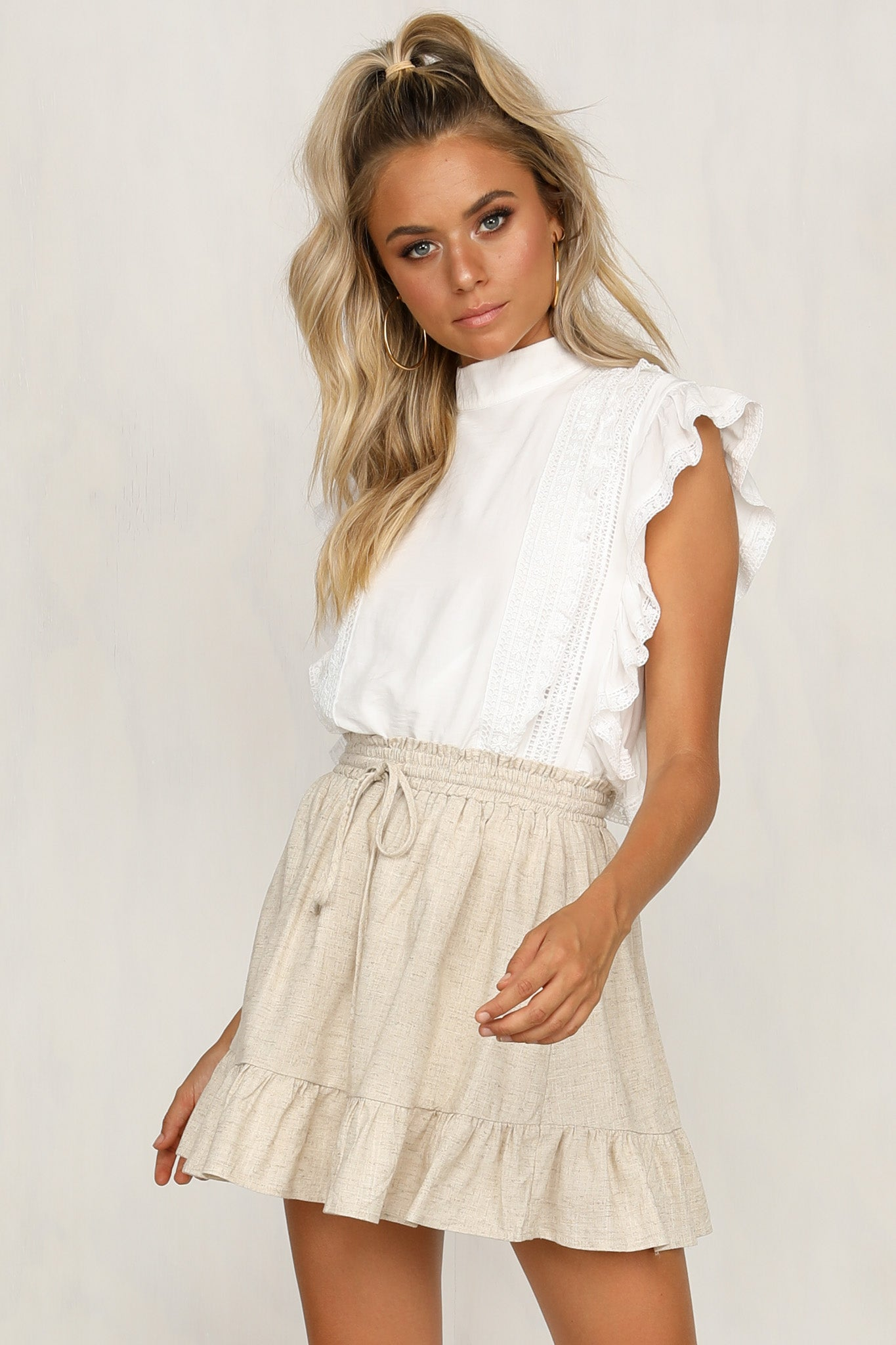 Days In The Sun Skirt (Beige)