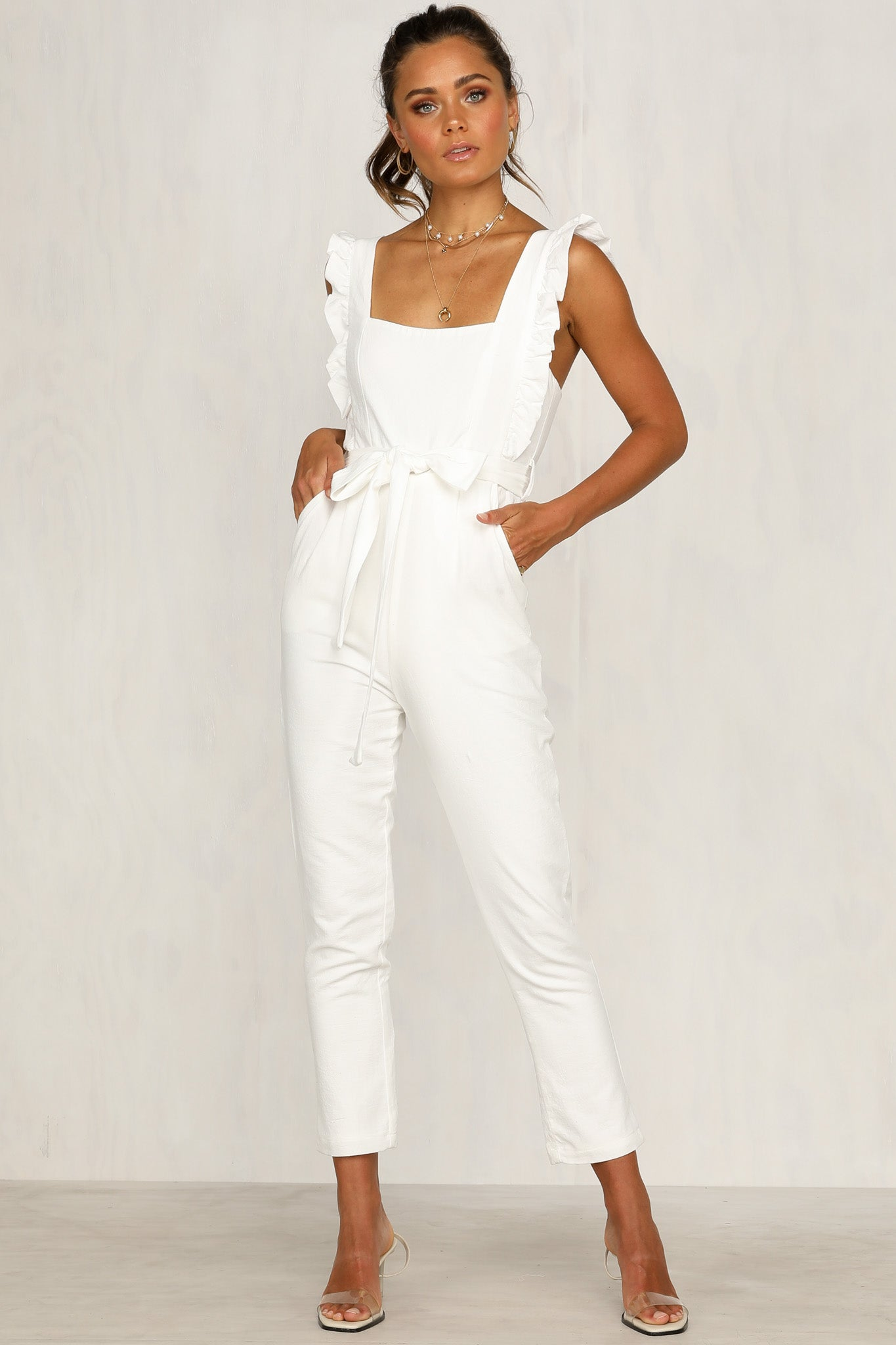 7d5685c8c57 Waverly Jumpsuit (White) – RunwayScout