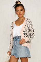 Loophole Knit Cardi (Pink)