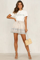 Set The Tone Skirt (Beige)