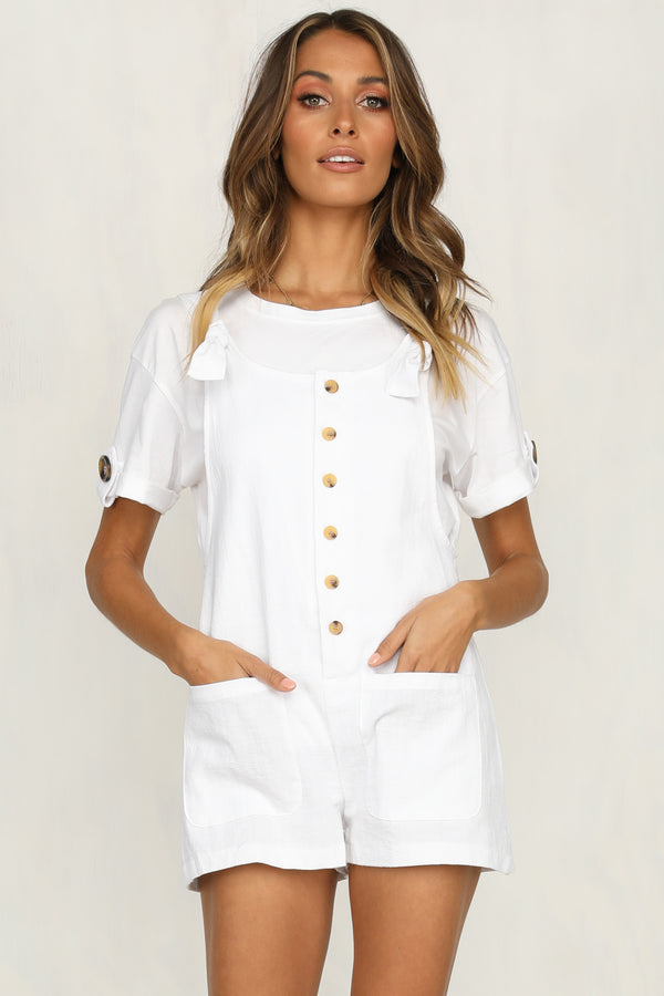 Bravo Playsuit (White)