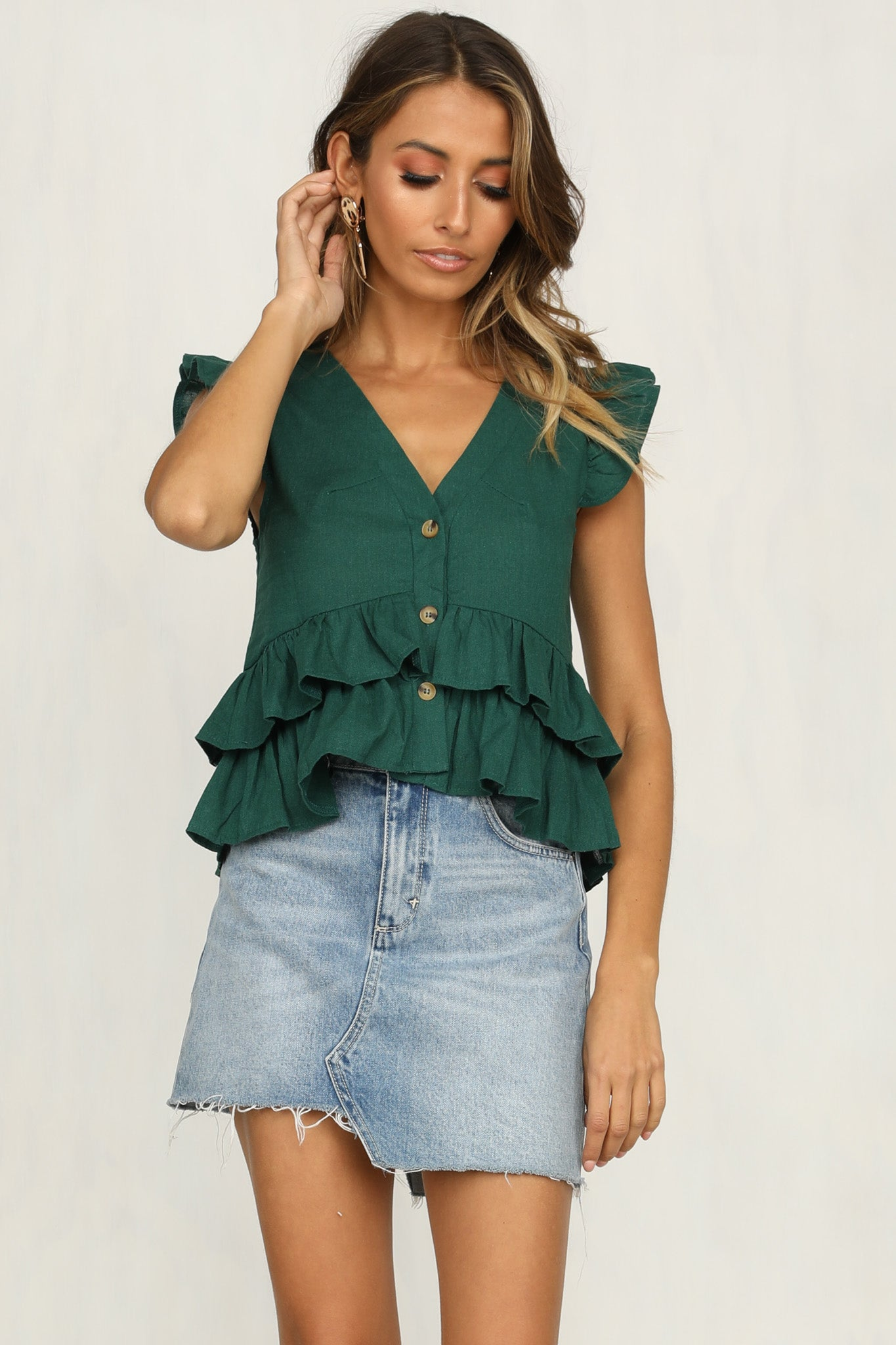 Atticus Top (Emerald)