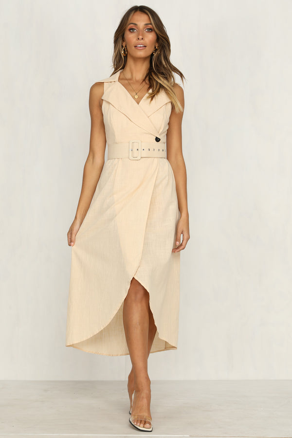 Garland Dress (Beige)
