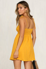 Over And Out Dress (Mustard)