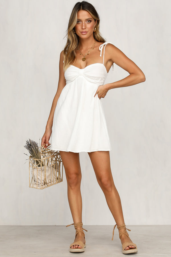 Over And Out Dress (White)