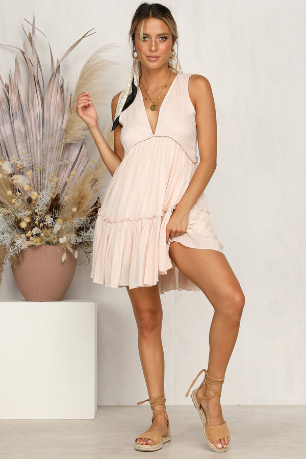 Late Afternoon Dress (Blush)