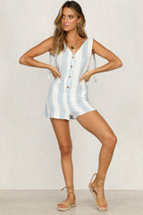 Tip-Toe Playsuit (Blue Stripe)