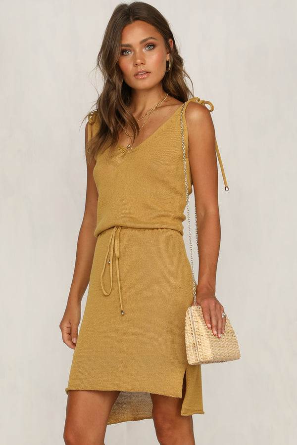 Hadley Knit Dress (Mustard)