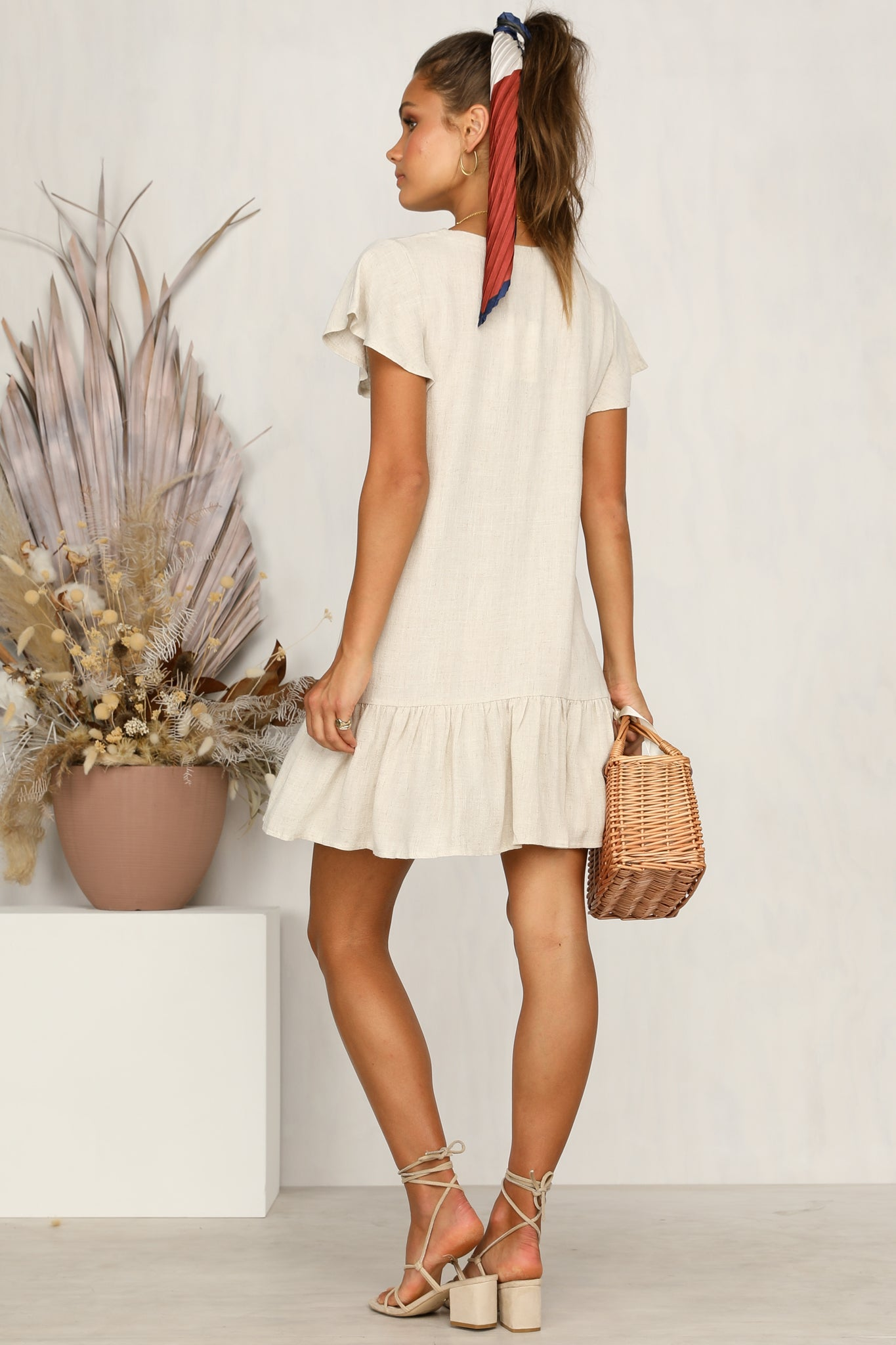 Stevie Dress (Beige)