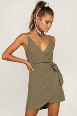 Running Back Dress (Khaki)