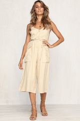 Hang Tight Jumpsuit (Beige)