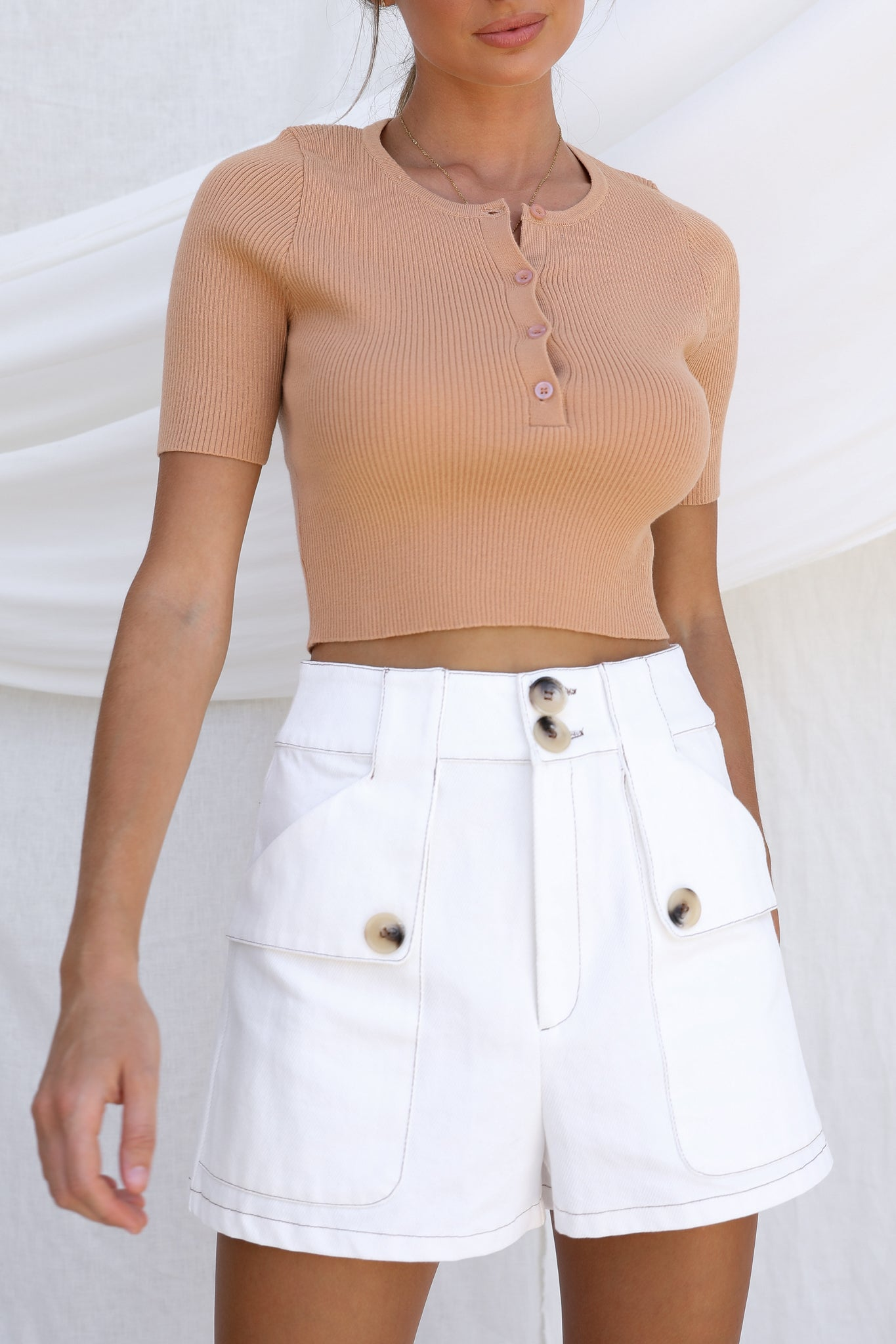 Olivia Knit Top (Rust)