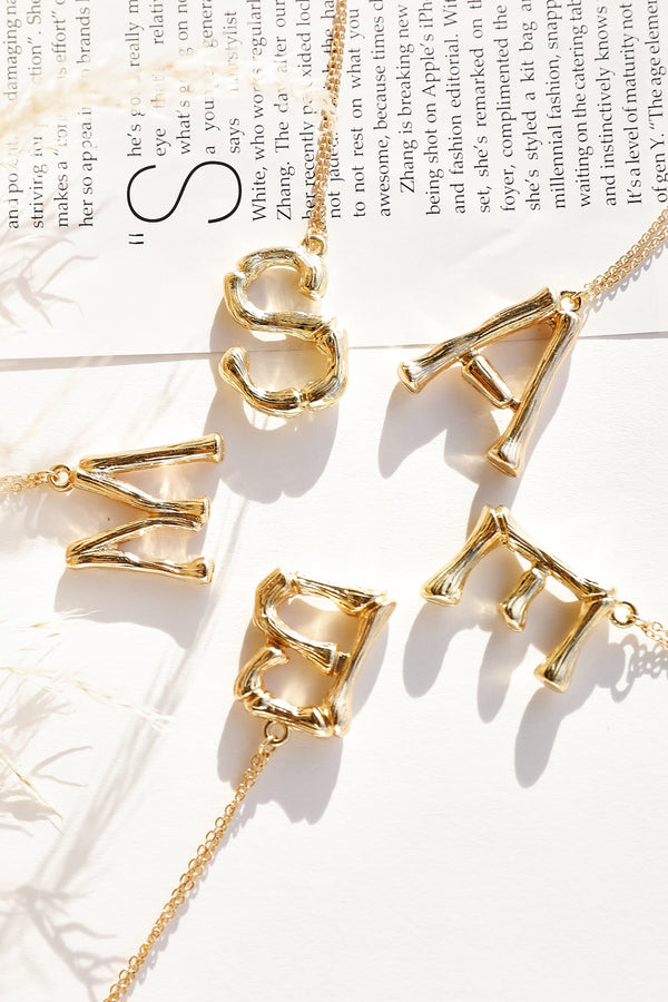Initial Necklace (Gold)