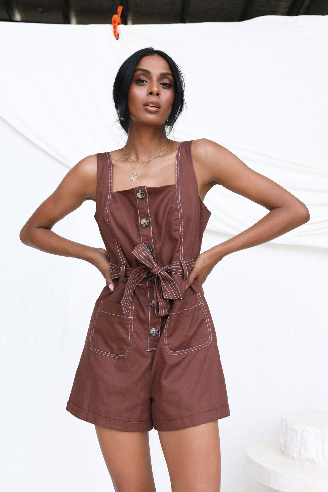 Willa Playsuit (Chocolate)