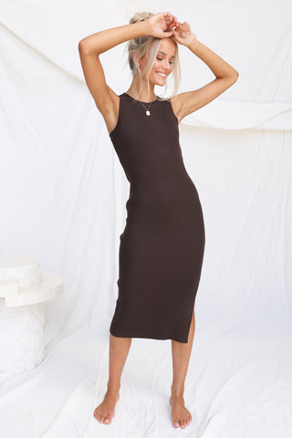 Lennox Dress (Chocolate)