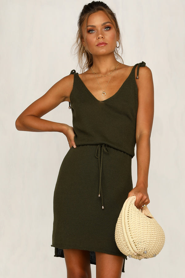 Hadley Knit Dress (Khaki)