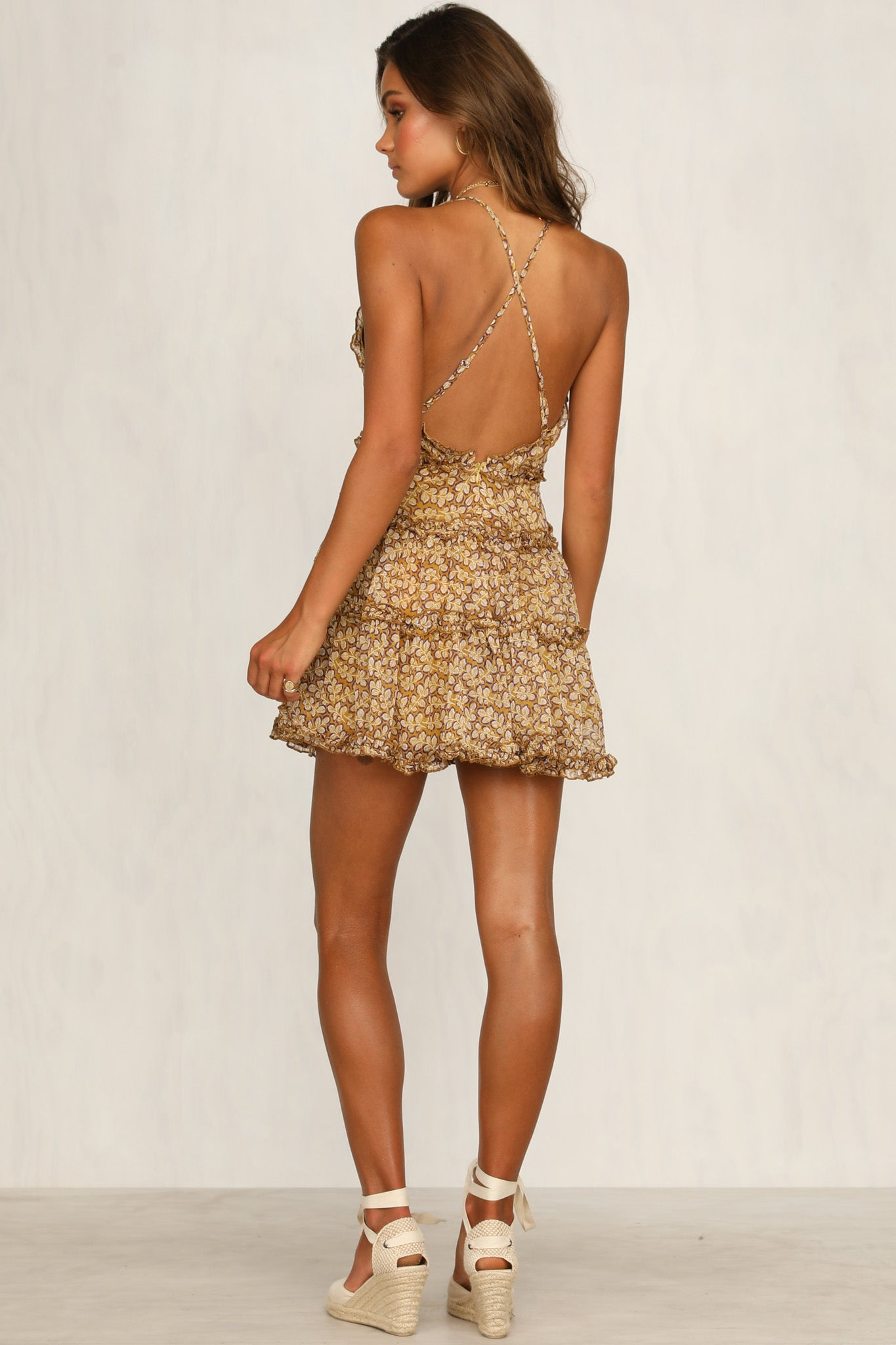Heartbeats Dress (Mustard)