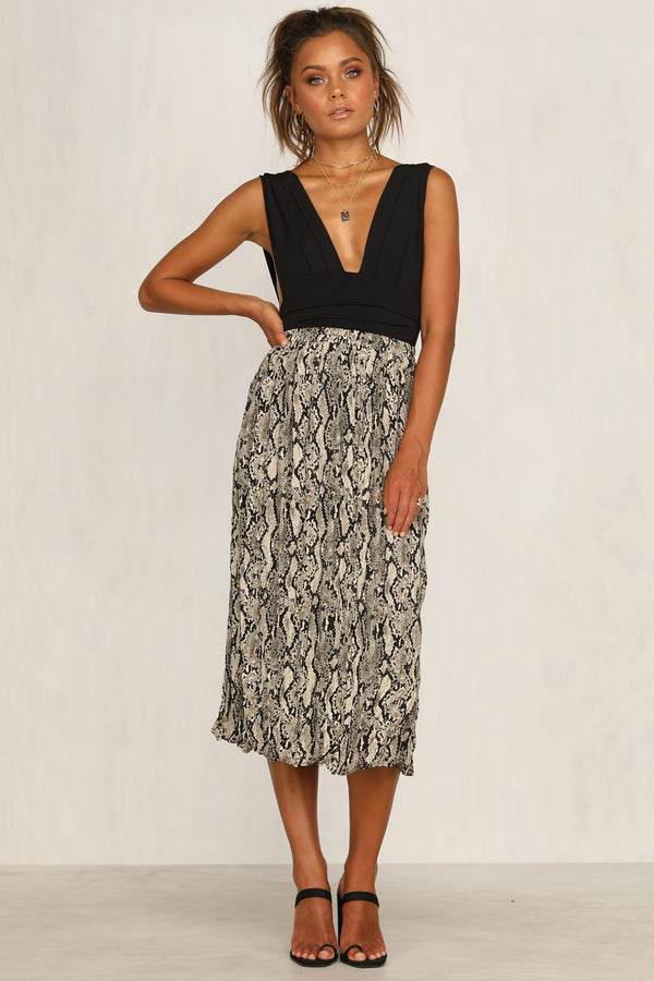 Vision Of Beauty Skirt (Snake Print)