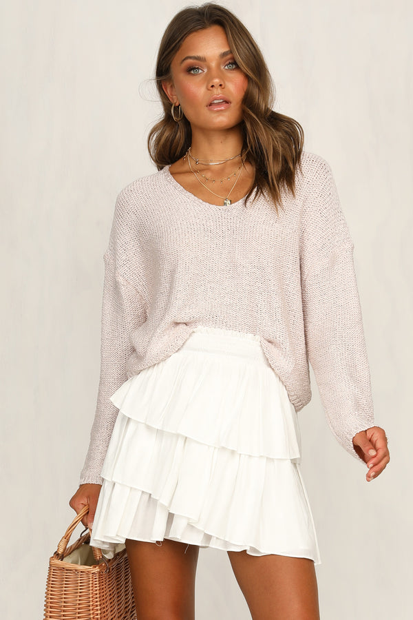 Bless Up Knit Top (Pink)