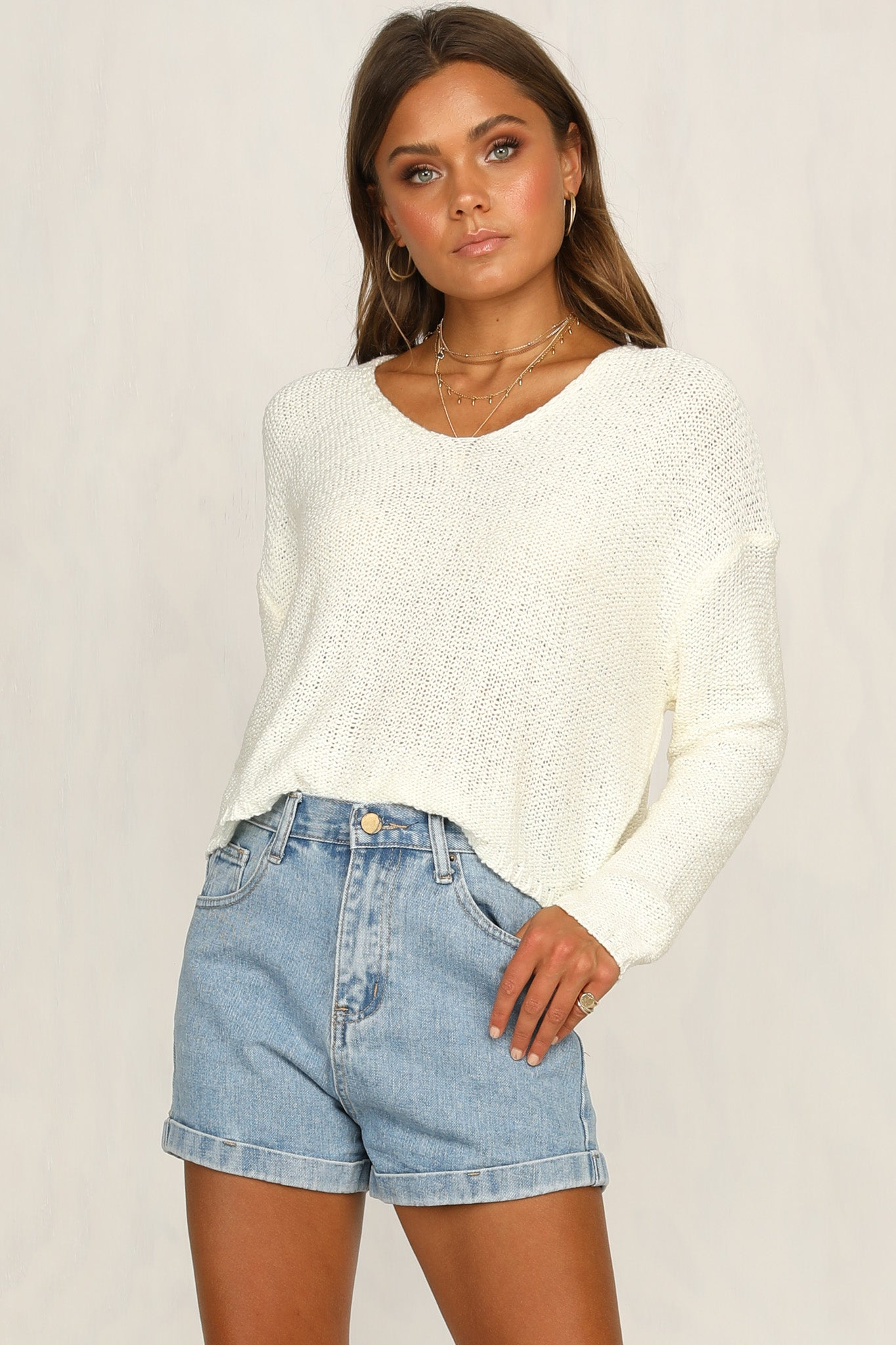 Bless Up Knit Top (Cream)
