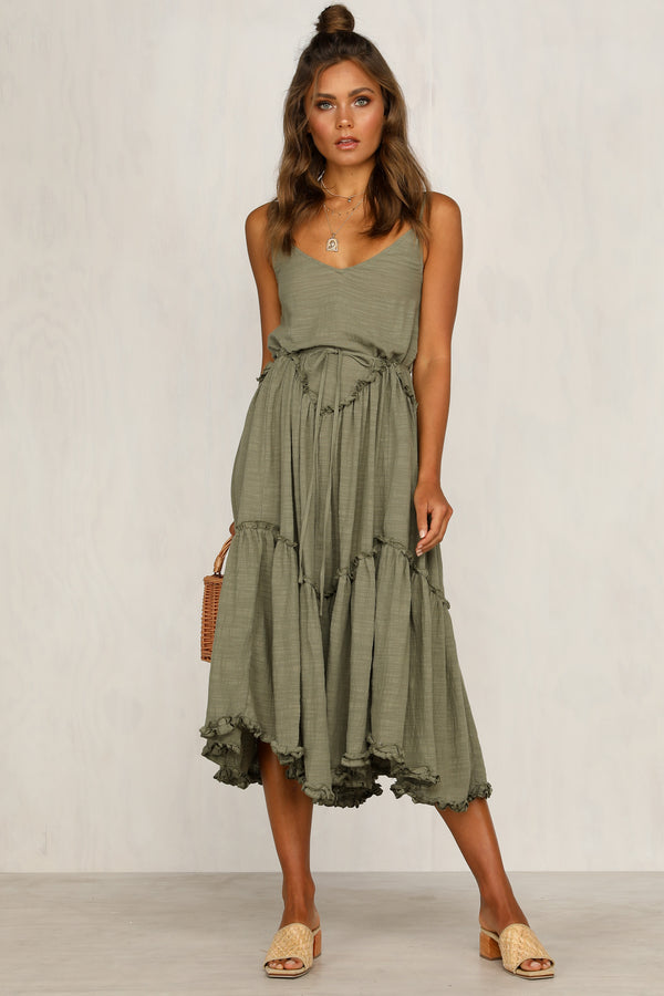 Picture This Dress (Khaki)