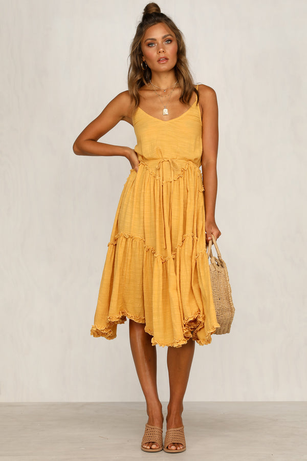 Picture This Dress (Mustard)