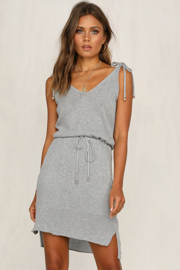 Hadley Knit Dress (Grey)