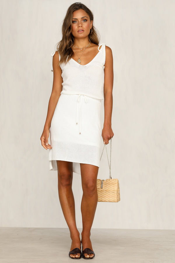 Hadley Knit Dress (White)