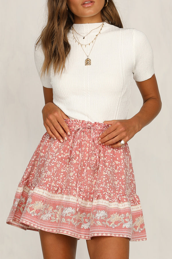 Set The Tone Skirt (Pink)