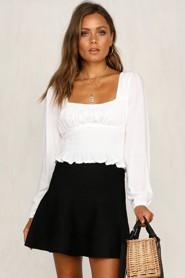Mood Knit Skirt (Black)