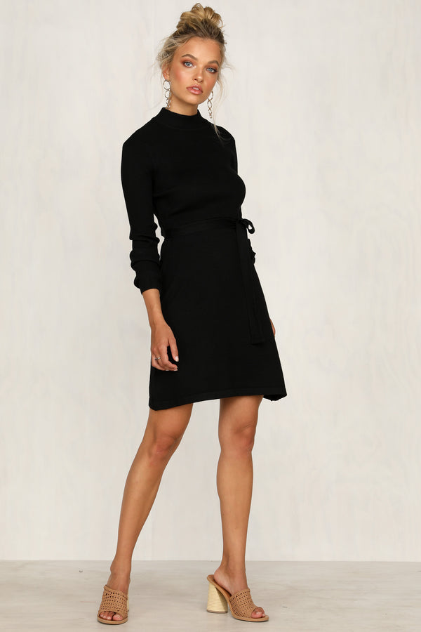 Dimitri Knit Dress (Black)