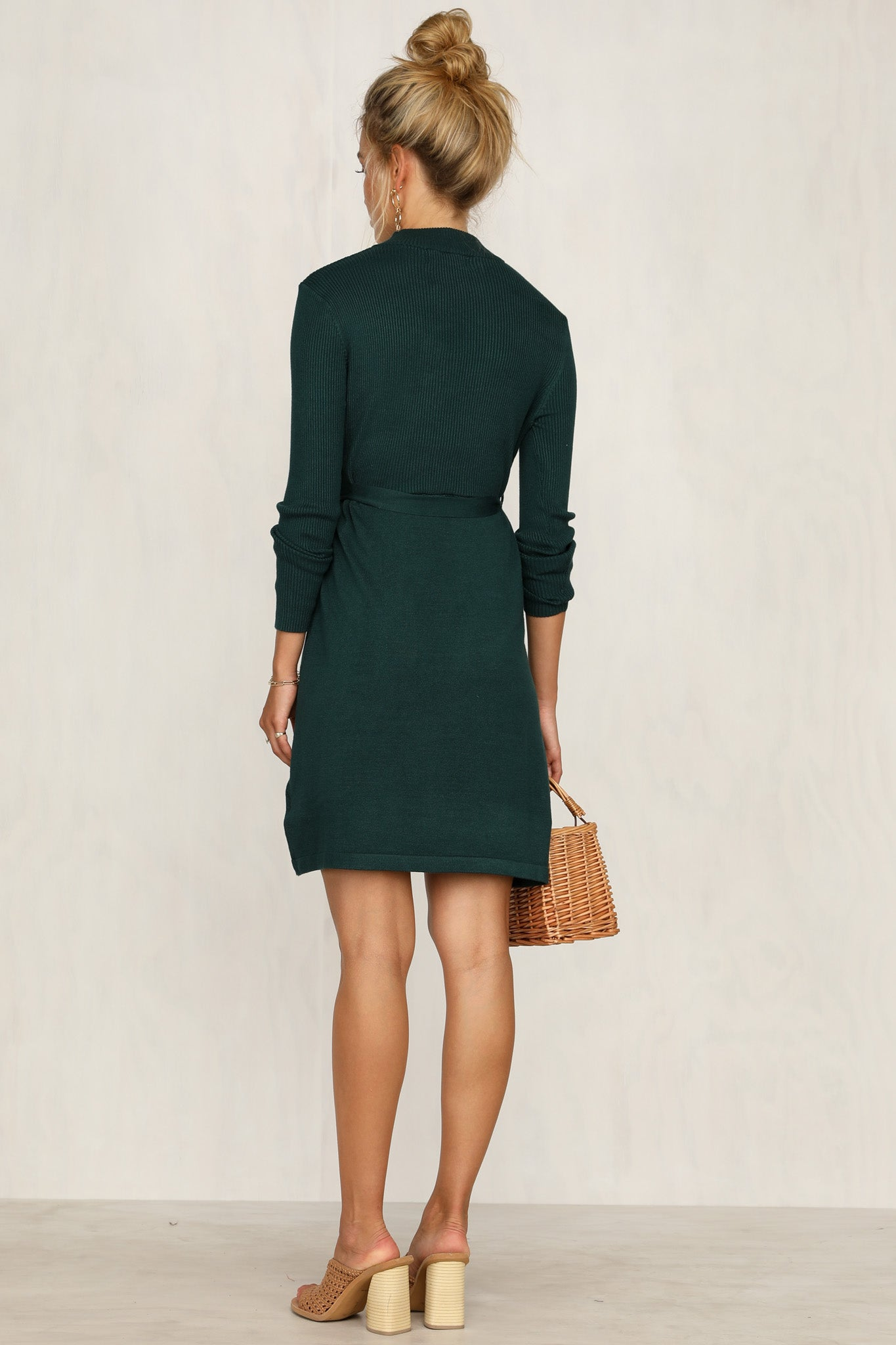Dimitri Knit Dress (Emerald)